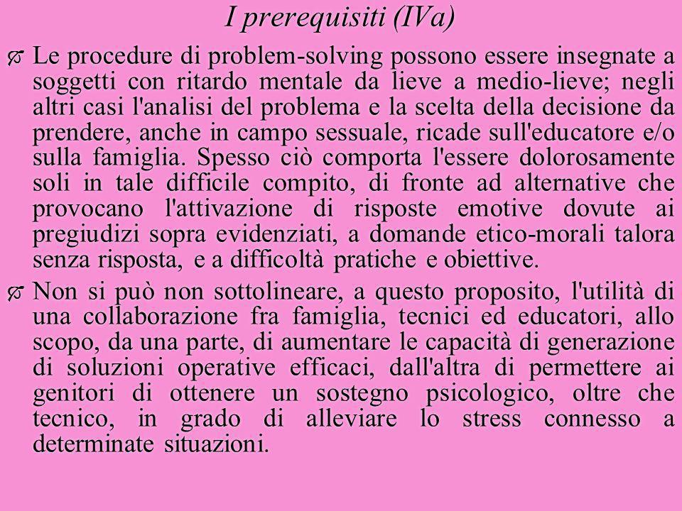 I prerequisiti (IVa)