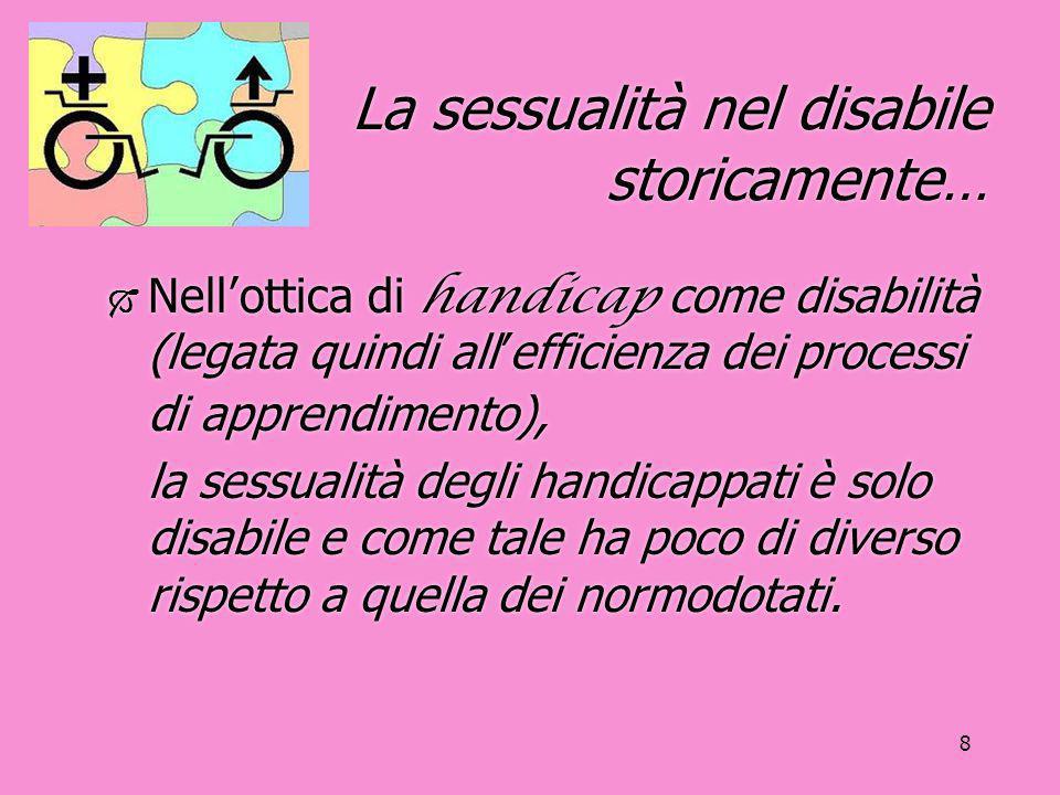 La sessualità nel disabile storicamente…