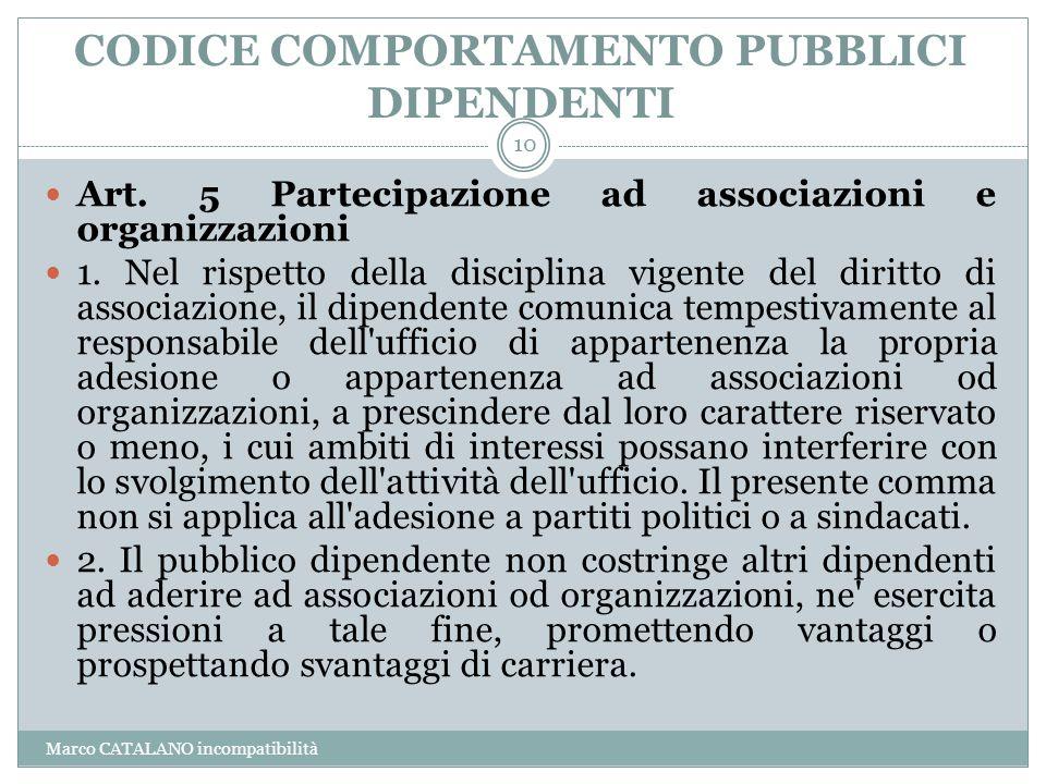 CODICE COMPORTAMENTO PUBBLICI DIPENDENTI
