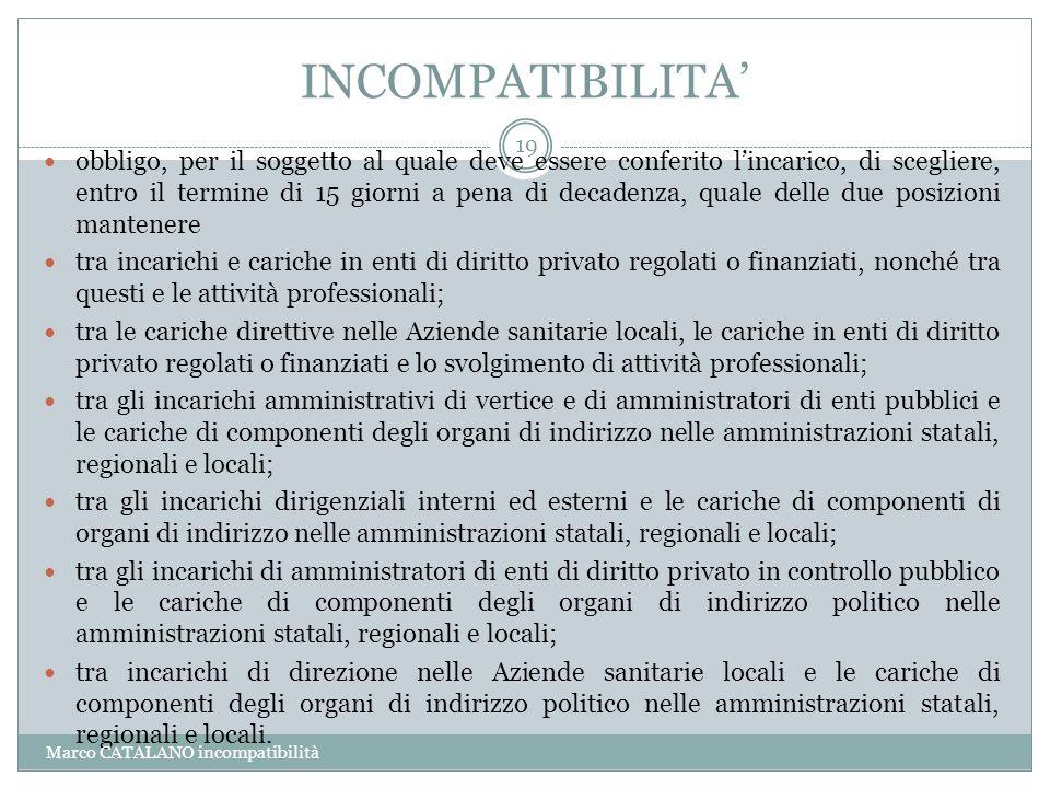 INCOMPATIBILITA'