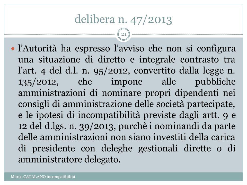 delibera n. 47/2013