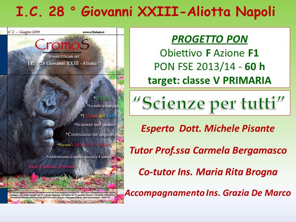 Scienze per tutti I.C. 28 ° Giovanni XXIII-Aliotta Napoli