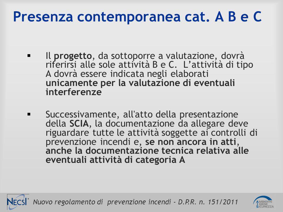 Presenza contemporanea cat. A B e C