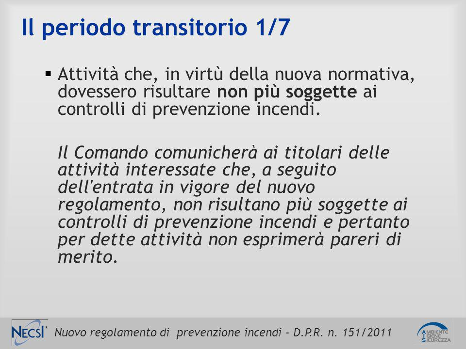 Il periodo transitorio 1/7