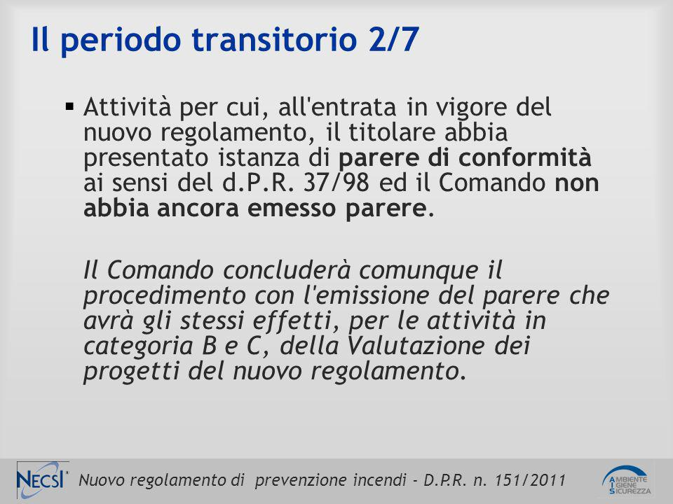 Il periodo transitorio 2/7
