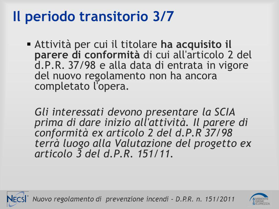 Il periodo transitorio 3/7