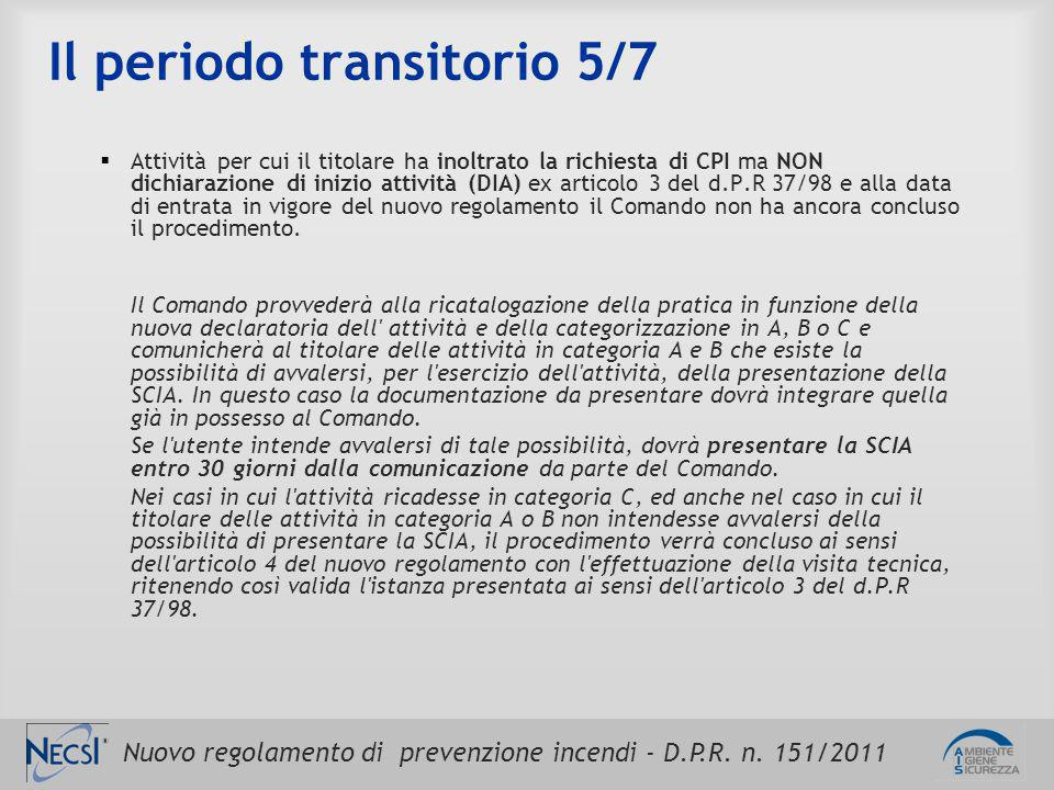 Il periodo transitorio 5/7