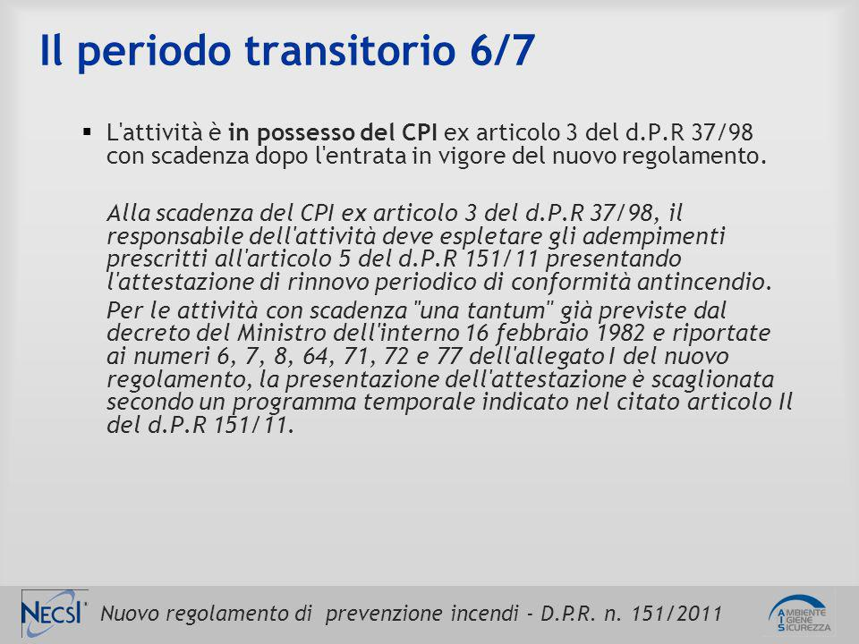 Il periodo transitorio 6/7