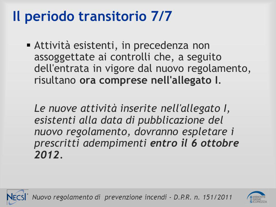 Il periodo transitorio 7/7