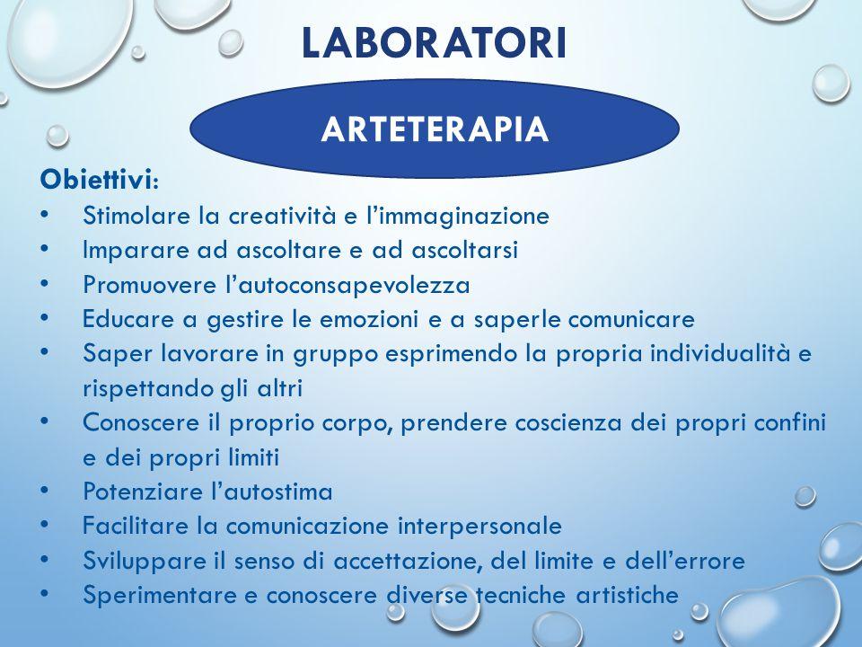 LABORATORI ARTETERAPIA Obiettivi: