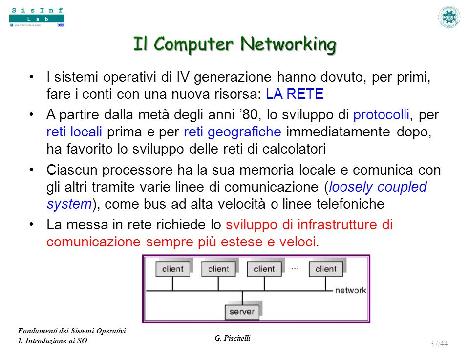Il Computer Networking