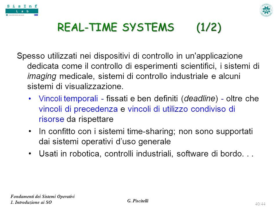 REAL-TIME SYSTEMS (1/2)
