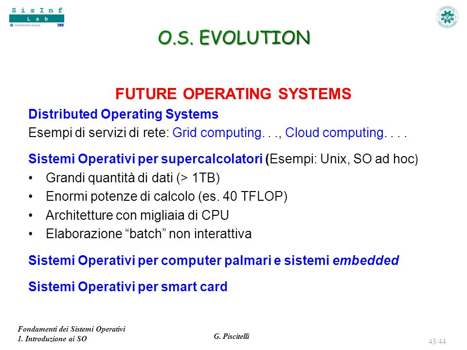 FUTURE OPERATING SYSTEMS
