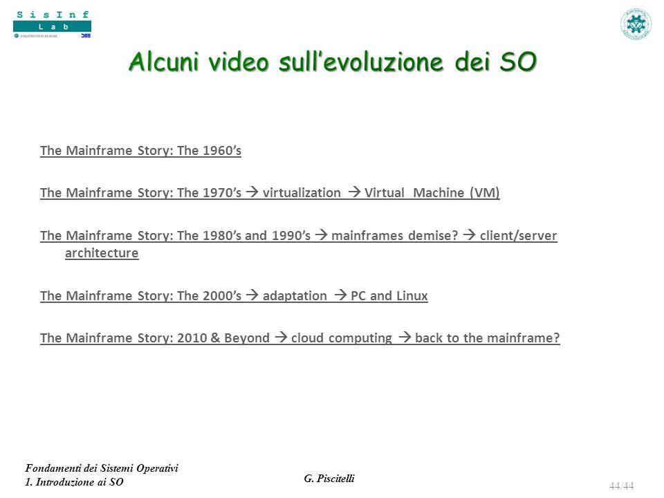 Alcuni video sull'evoluzione dei SO