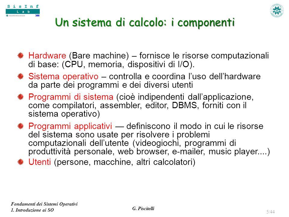 Un sistema di calcolo: i componenti