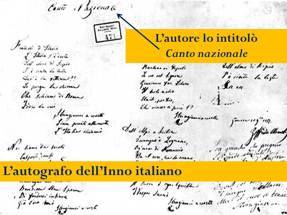 L'autografo dell'Inno italiano