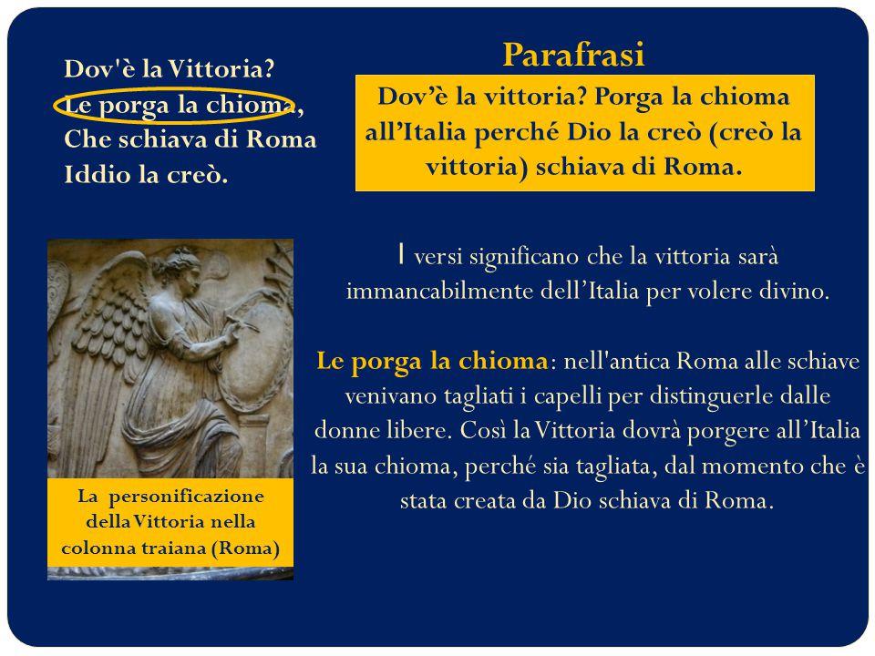 La personificazione della Vittoria nella colonna traiana (Roma)