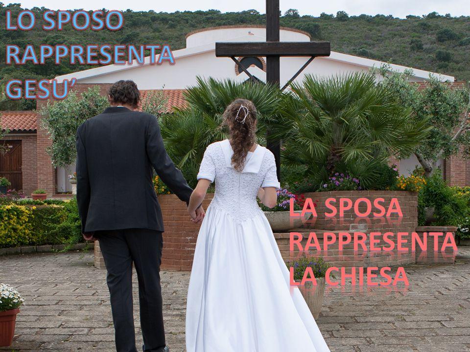 LO SPOSO RAPPRESENTA GESU' La sposa RAPPRESENTA La chiesa