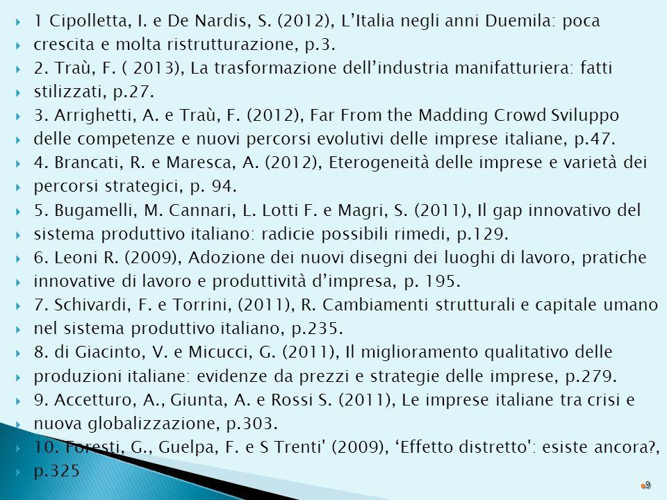 1 Cipolletta, I. e De Nardis, S