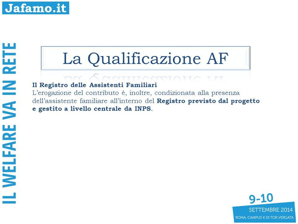 La Qualificazione AF Il Registro delle Assistenti Familiari