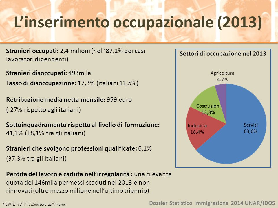L'inserimento occupazionale (2013)