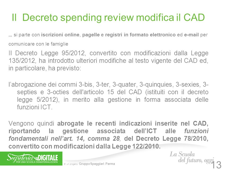 Il Decreto spending review modifica il CAD