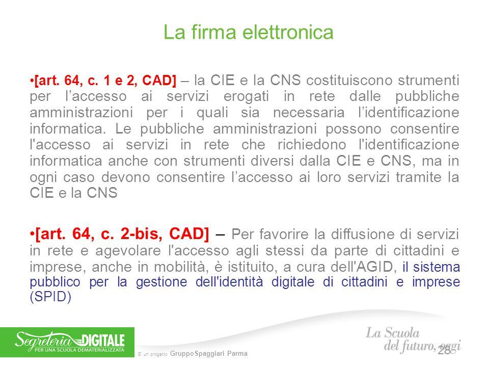 5 febbraio 2014 La firma elettronica.