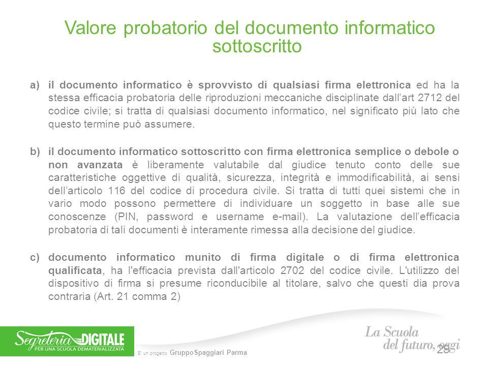 Valore probatorio del documento informatico sottoscritto