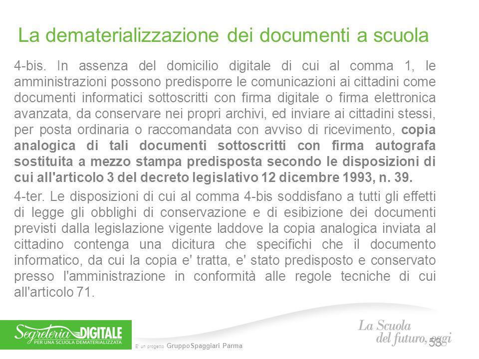 La dematerializzazione dei documenti a scuola