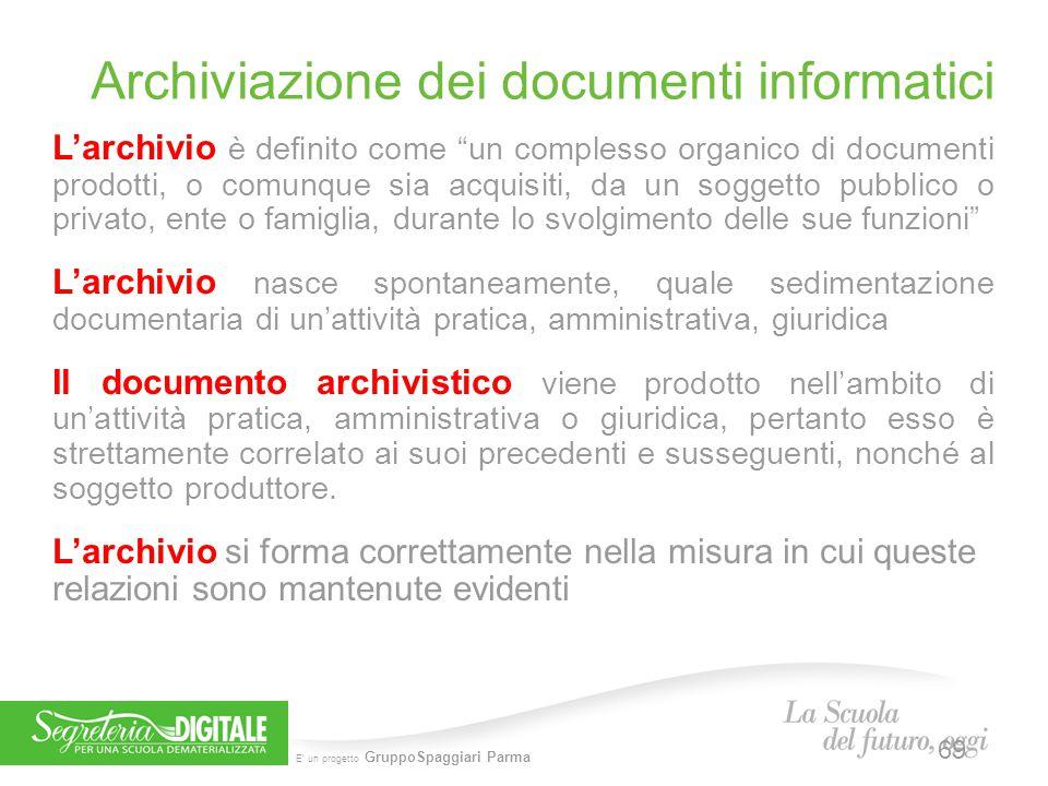 Archiviazione dei documenti informatici
