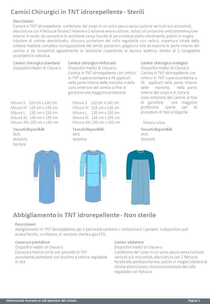 Camici Chirurgici in TNT idrorepellente - Sterili