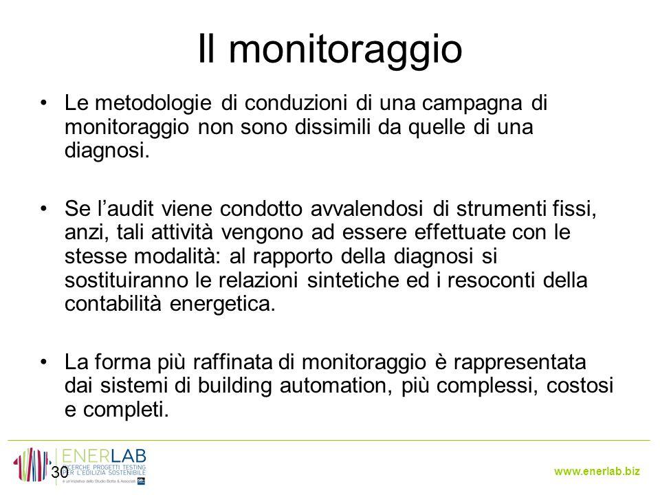 Il monitoraggio Le metodologie di conduzioni di una campagna di monitoraggio non sono dissimili da quelle di una diagnosi.