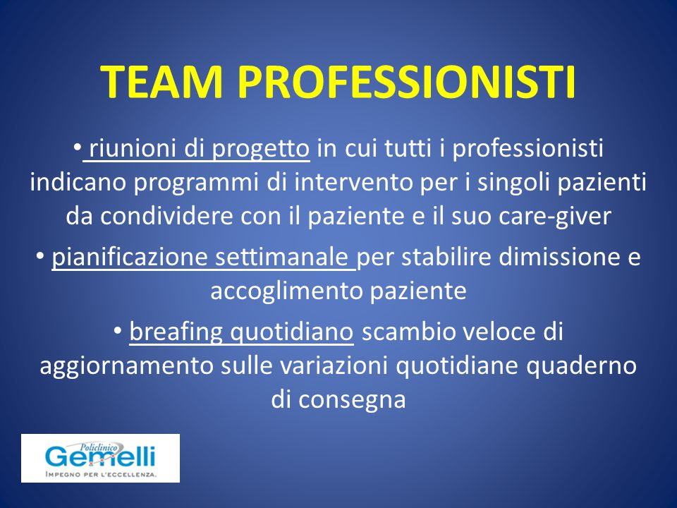TEAM PROFESSIONISTI