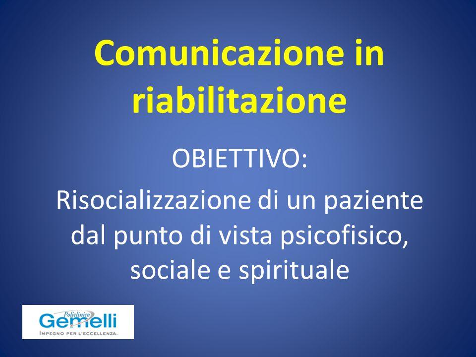 Comunicazione in riabilitazione