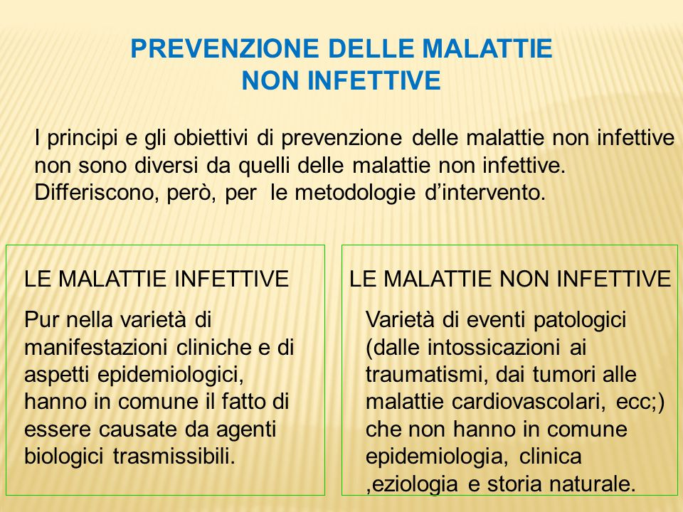 PREVENZIONE DELLE MALATTIE NON INFETTIVE