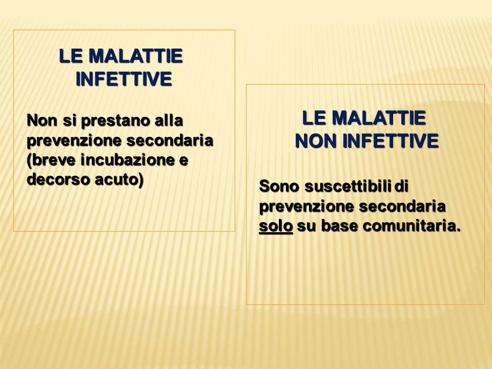 LE MALATTIE INFETTIVE LE MALATTIE NON INFETTIVE