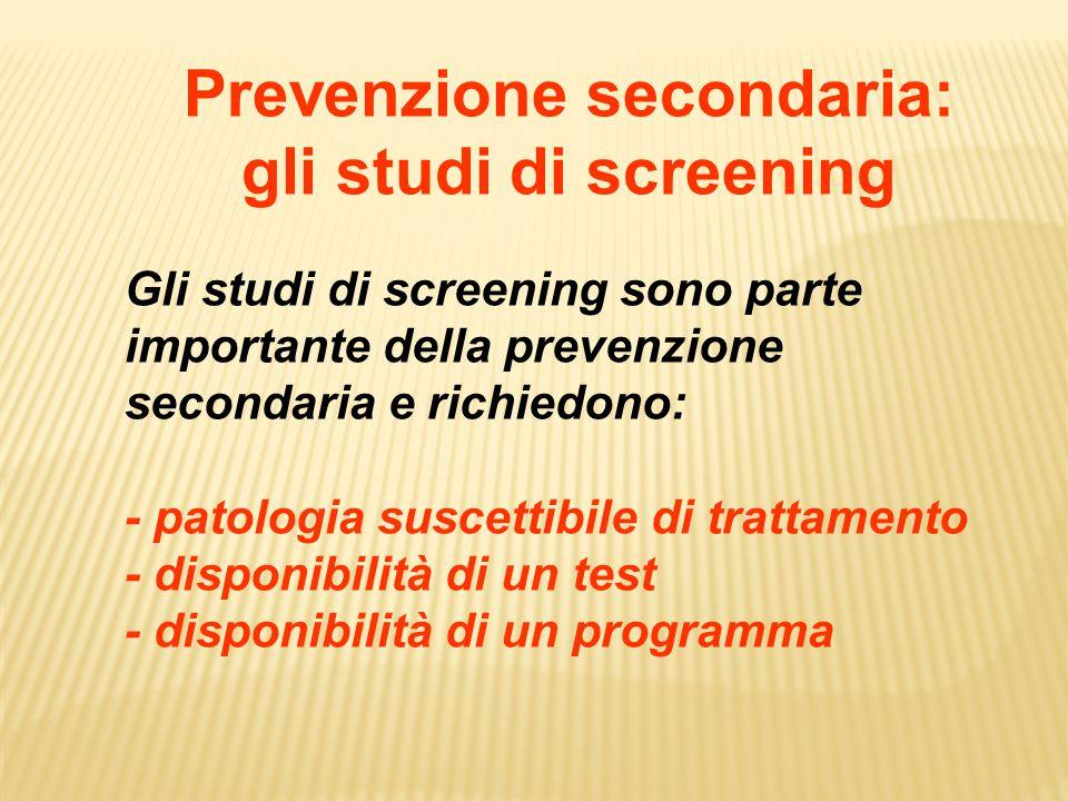 Prevenzione secondaria: