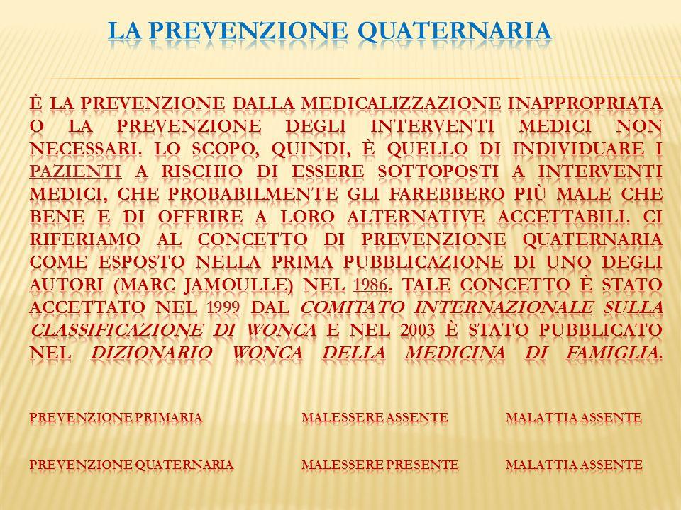 La prevenzione quaternaria