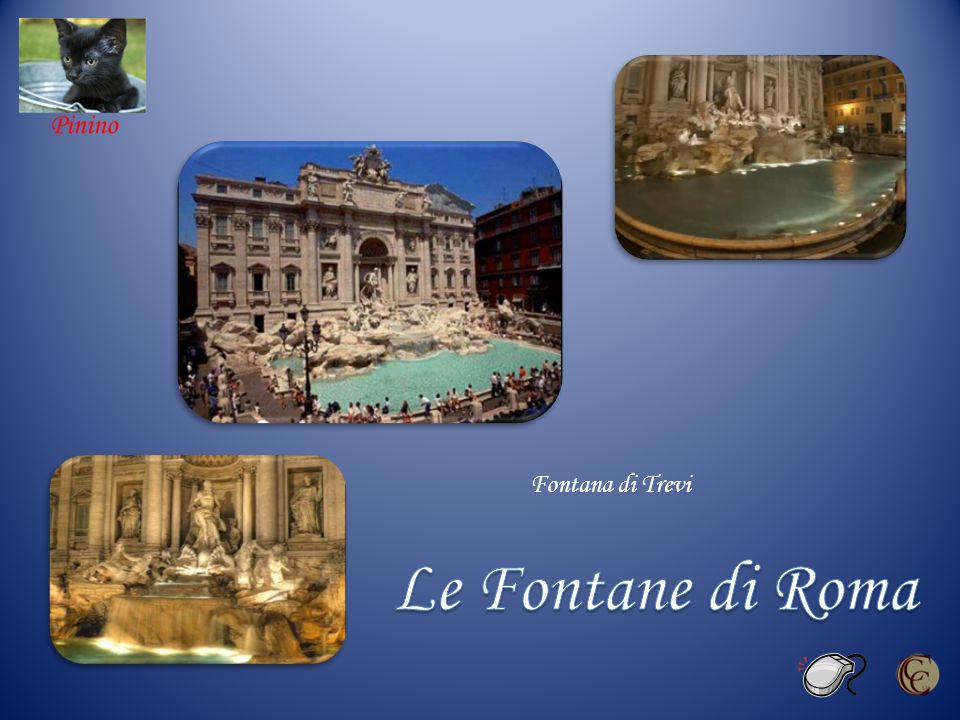 Fontana di Trevi Le Fontane di Roma