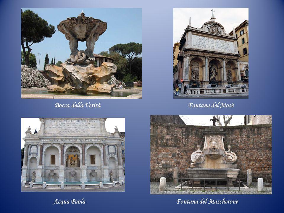 Bocca della Verità Fontana del Mosè Acqua Paola Fontana del Mascherone