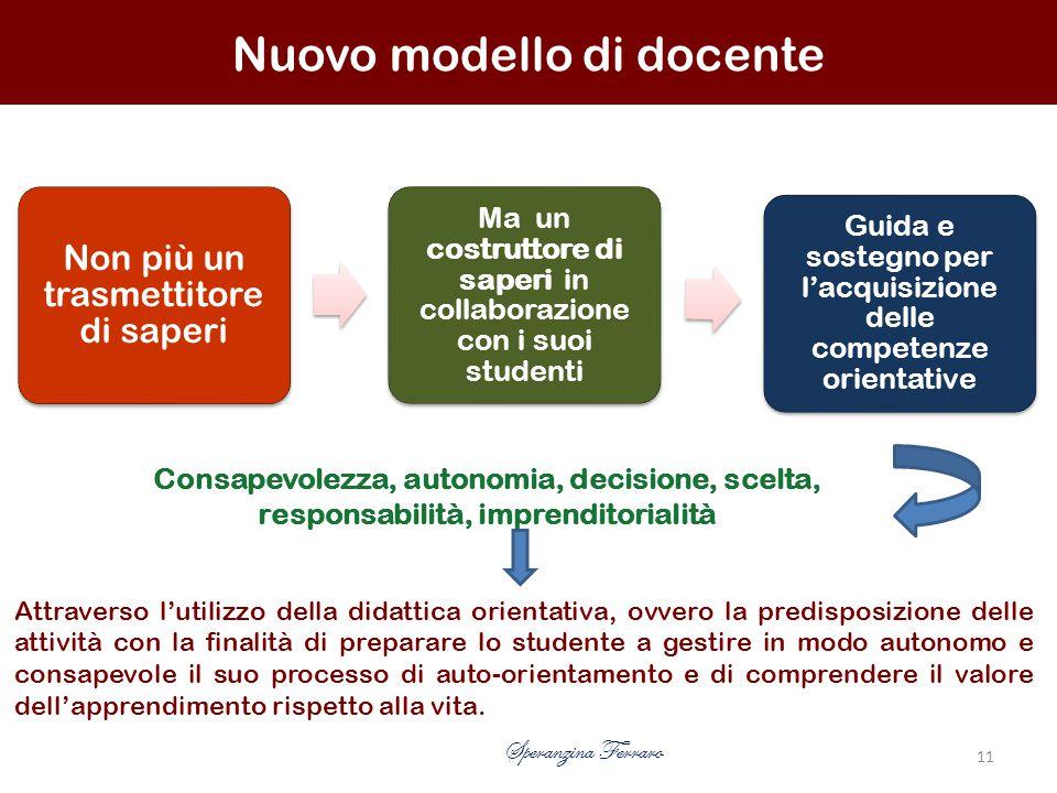 Nuovo modello di docente