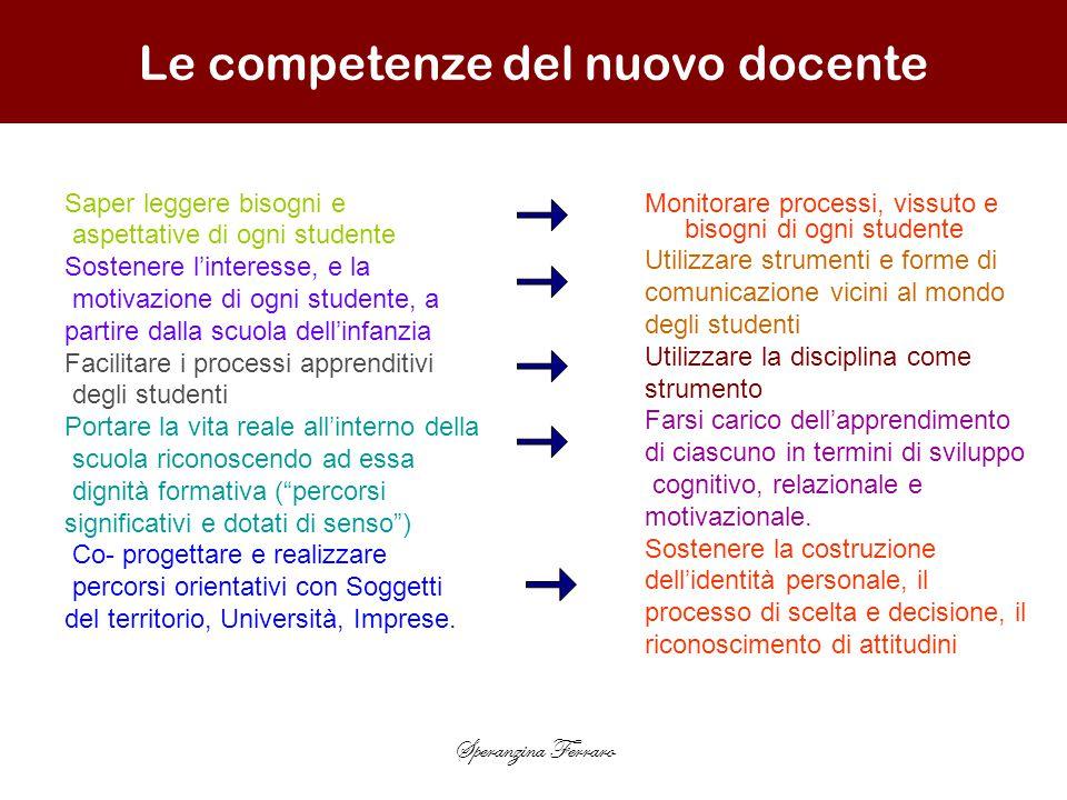 Le competenze del nuovo docente
