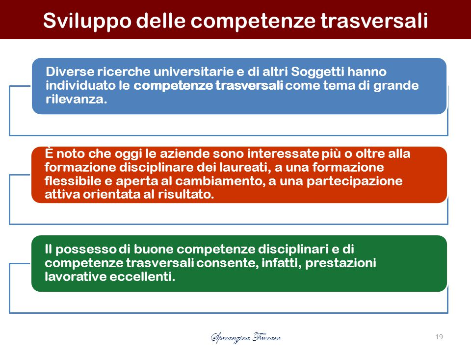 Sviluppo delle competenze trasversali