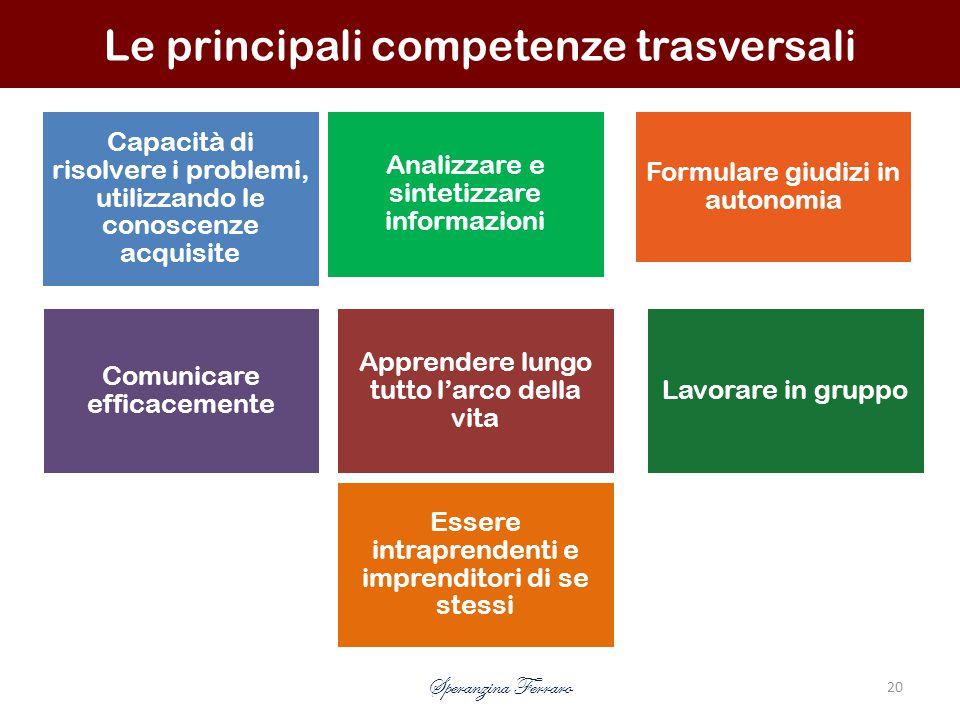 Le principali competenze trasversali