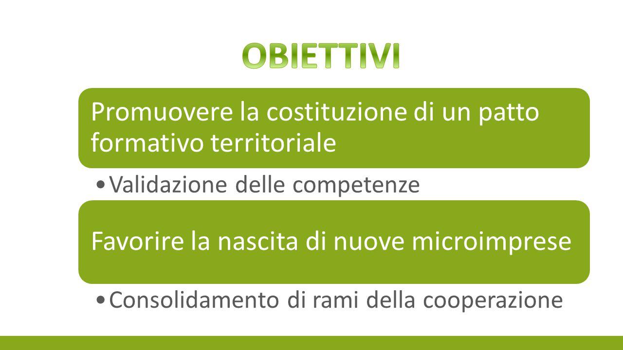 OBIETTIVI Promuovere la costituzione di un patto formativo territoriale. Validazione delle competenze.