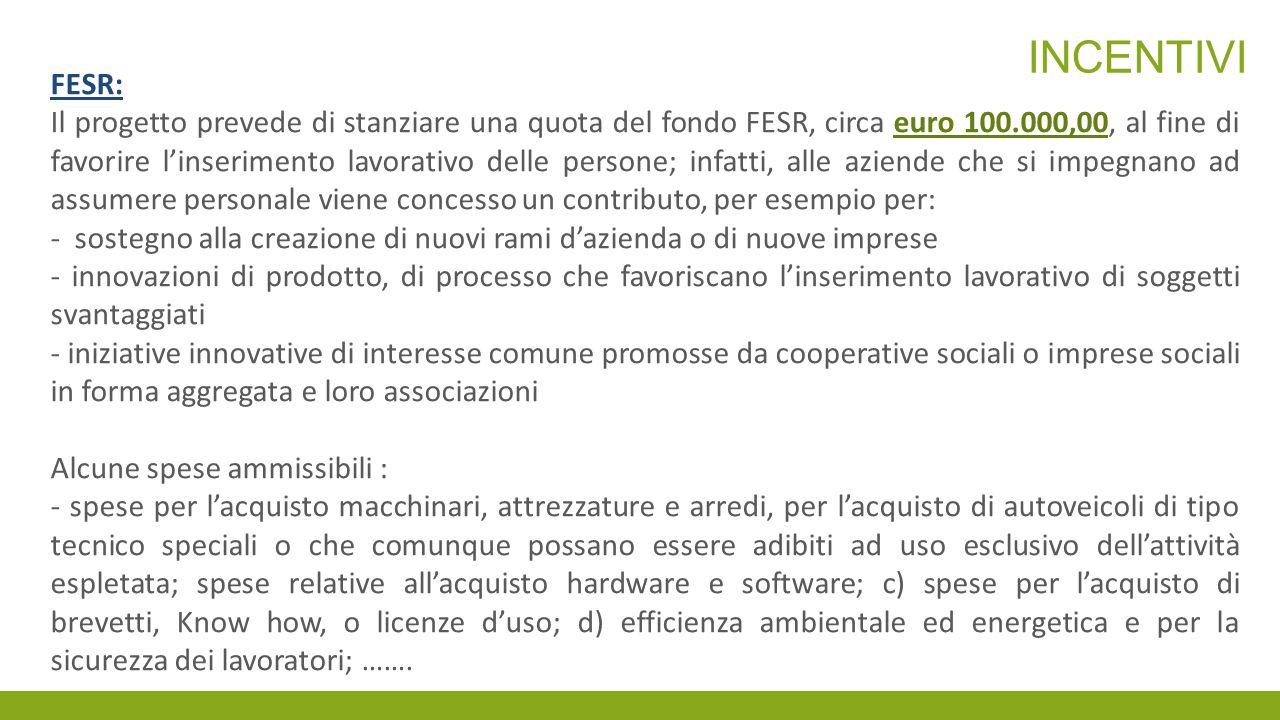 incentivi FESR: