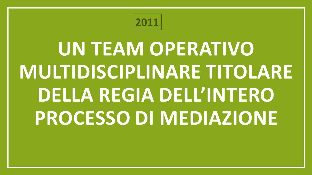 Un team operativo multidisciplinare titolare della regia dell'intero processo di mediazione
