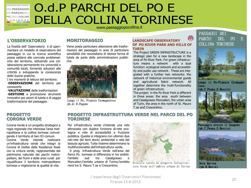 L esperienza degli Osservatori Piemontesi Firenze 13-6-2013