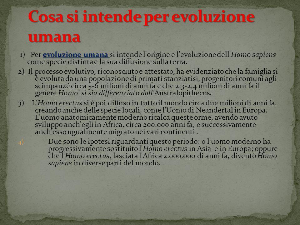 Cosa si intende per evoluzione umana