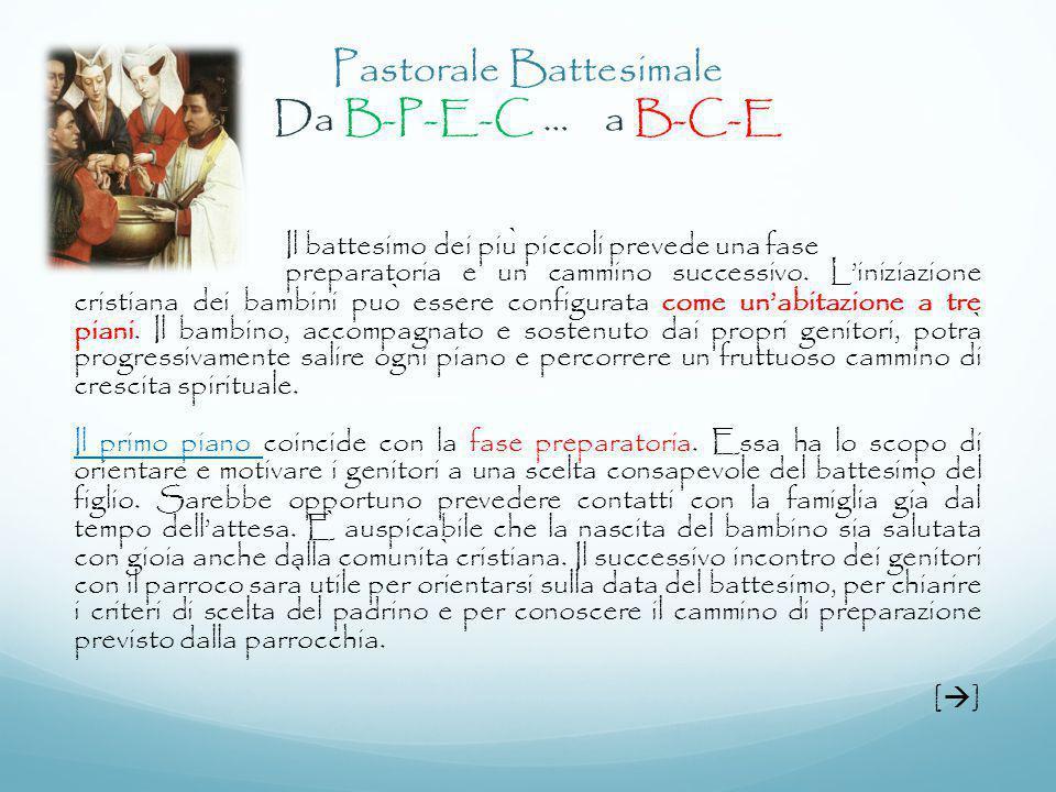 Pastorale Battesimale Da B-P-E-C … a B-C-E